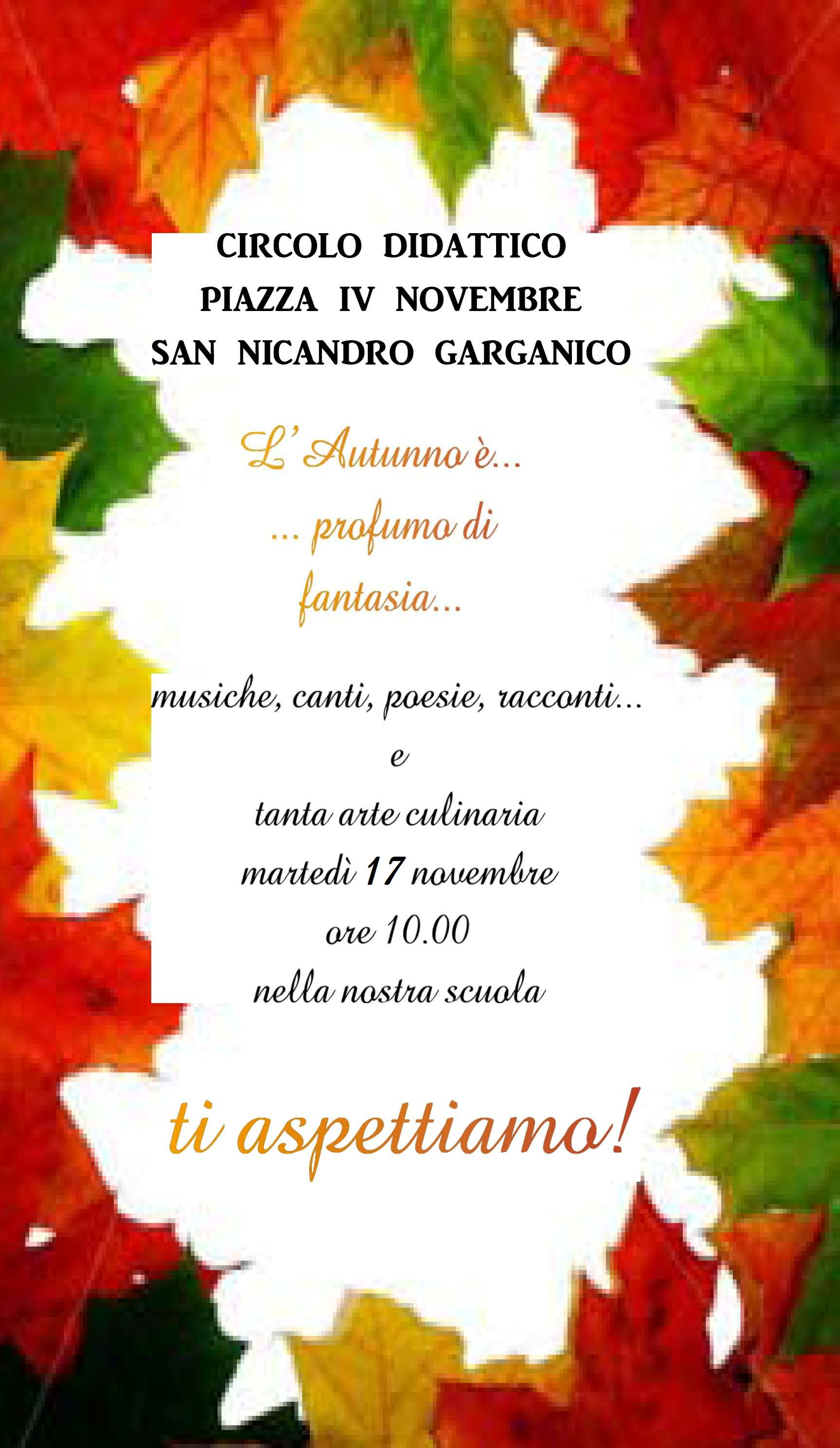 Festa Dellautunno Eventi News San Nicandro Garganico Www