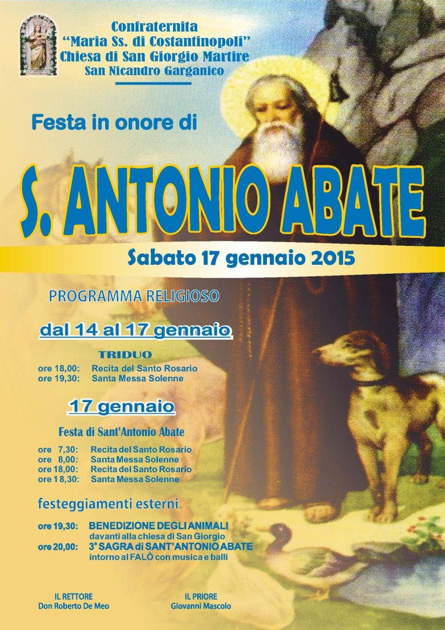 Festa di sant 39 antonio abate nella chiesa di san giorgio for Arredo bimbo sant antonio abate