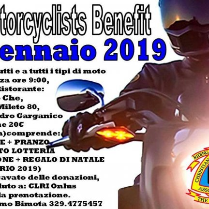 "9° Motorcyclists Benefit ""Riding with Purpose"" Targato CMA Italy"