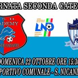 Seconda categoria: domenica l'Academy ospita lo Sport Lucera