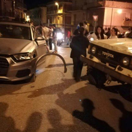 Incidente su via Ottaviano Augusto