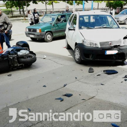 Incidente in via S. Francesco, un ferito