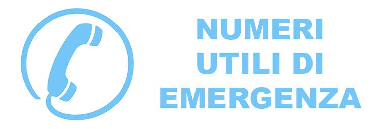 Numeri utili di emergenza